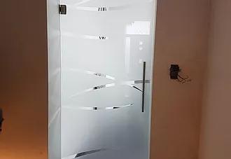 Porte en verre